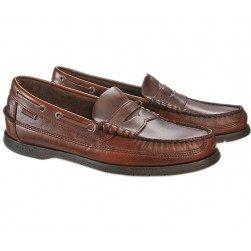 Mocassins Sloop Sebago homme marron