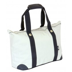 Sac shopping - Blanc/marine