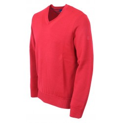 Pull col V Crozon homme Rouge