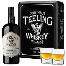Coffret Whisky Irlandais Teeling Small Batch + 2 verres