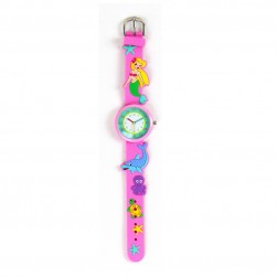Montre d'apprentissage rose