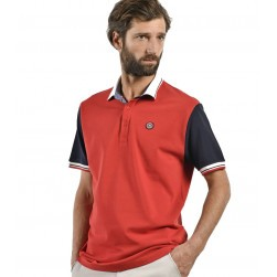 Polo homme nautique Middle rouge