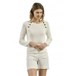 Pull marin femme Trema calcaire