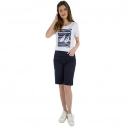 Tee-shirt voile femme Cabriza blanc