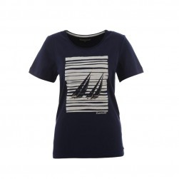 Tee-shirt voile femme Cabriza marine