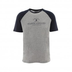 Tee-shirt nautique homme Vitaly gris chiné/marine