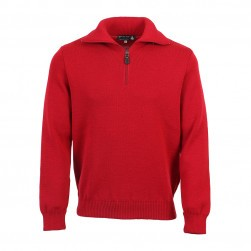Pull camionneur rouge