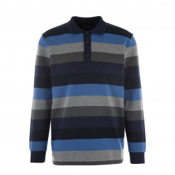 Polo rayé homme manches longues