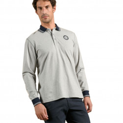 Polo homme Mistral gris chiné