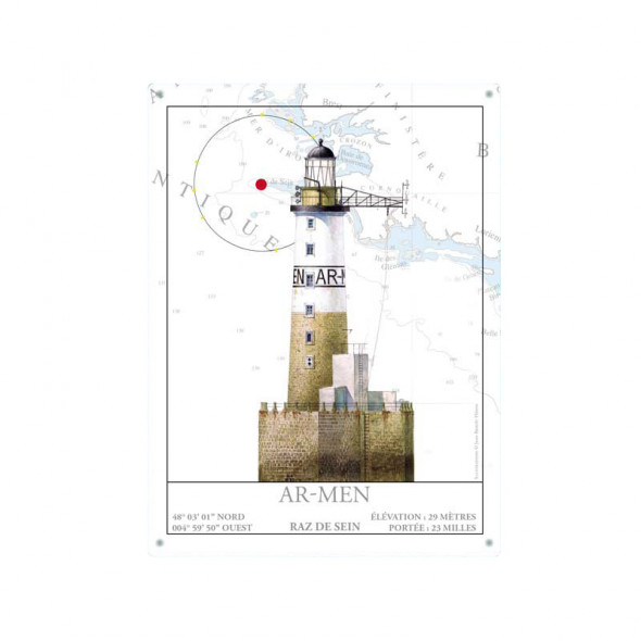 Phare Men Plaque Ar Métal Décorative 43Lqjc5AR