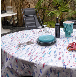 Nappe ovale poissons