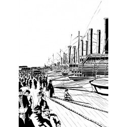 Quai de New Orleans - Illustration de Pierre Hervé