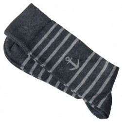 Chaussettes rayures grises