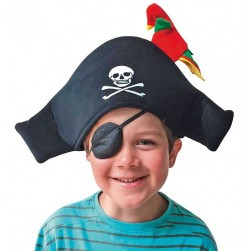 Chapeau de pirate au perroquet