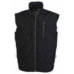 Gilet multipoches marine