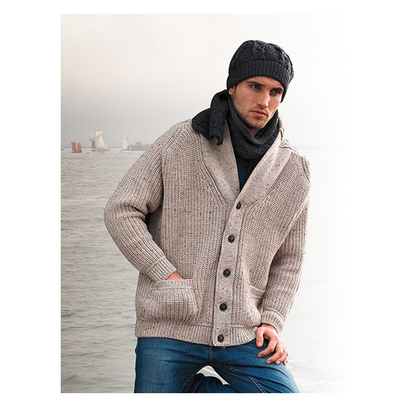 gilet col ch le irlandais pulls marins gilets sweats homme chasse mar e. Black Bedroom Furniture Sets. Home Design Ideas