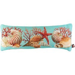 Coussin cale dos tapisserie Coquillage