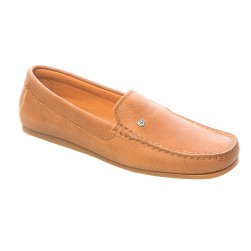 Mocassins Santorini, nubuck marron clair