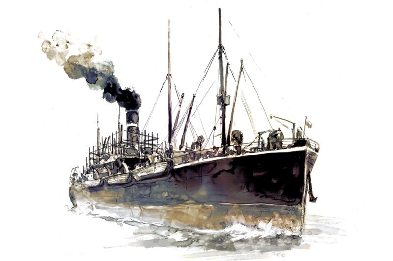 bateau usine japon roman