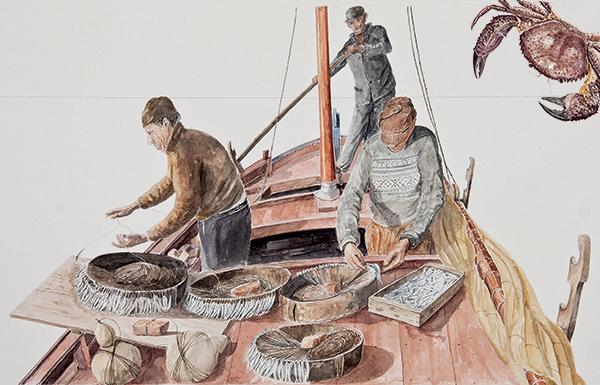 Luigi Divari venise dessins bateaux