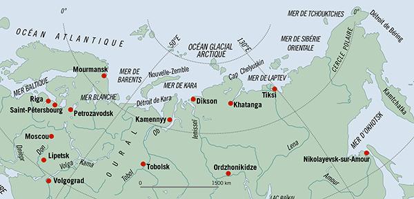Mourmansk port russie route du nord