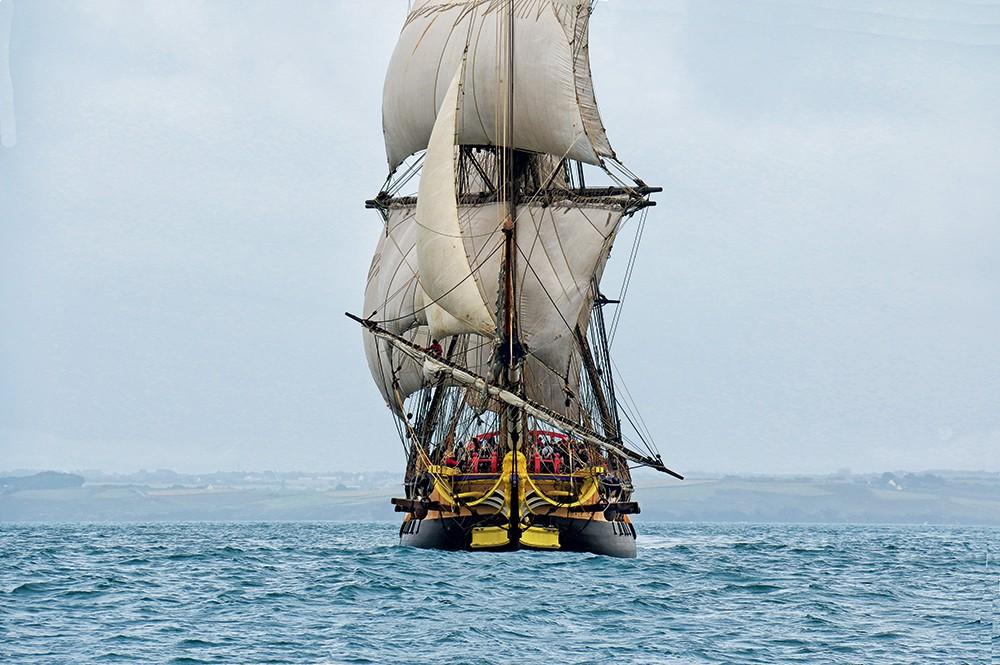 Hermione navigation premiers bord