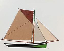 Dessin Barque chalutière de la Manche