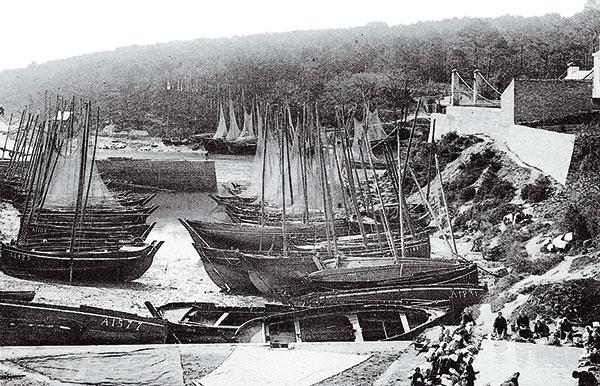 Photo du port du Bono en 1900