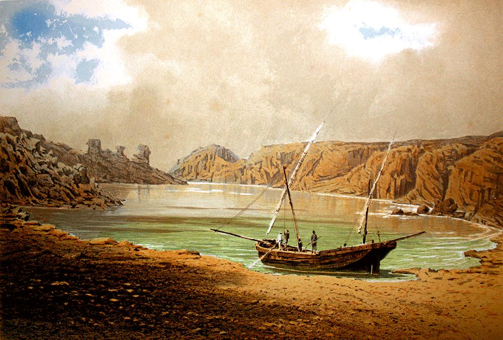 Lithographie de l'archiduc Louis-Salvador de Habsbourg Die Insel Menorca