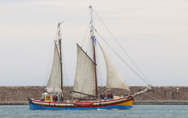 Albarquel sous voile lors des fêtes maritimes Escales à Sète 2018