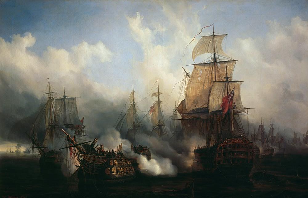 Tableau de la bataille de Trafalgar