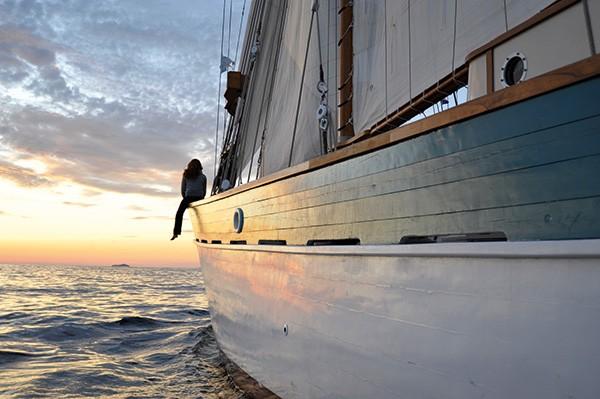 Coucher de soleil au large de la Sardaigne