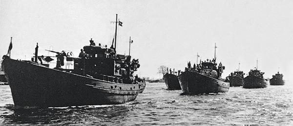 Une flotille de KFK en 1940