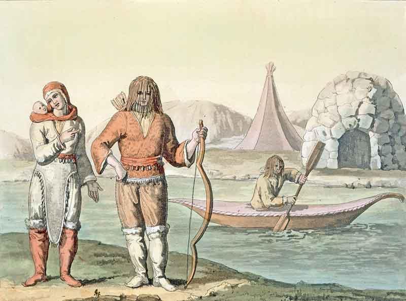 Tableau d'esquimaux Baie d'Hudson