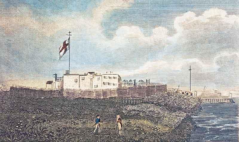 Fort du Prince de Galles avant l'assaut de Lapérouse
