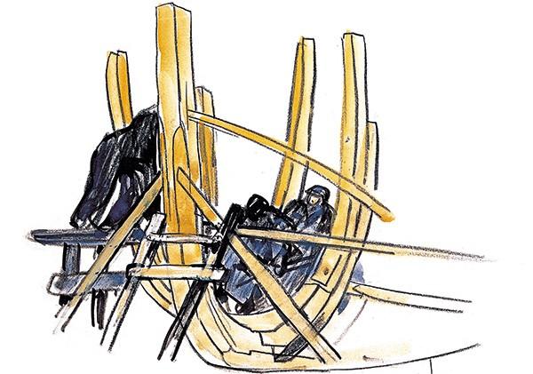 Dessin de charpentier marine