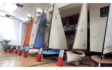 Exposition de petits voiliers, musée maritime de La Rochelle