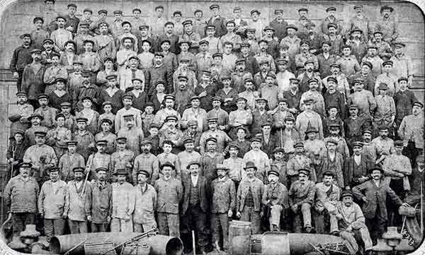 Personnel des Chantiers de Penhoët 1905