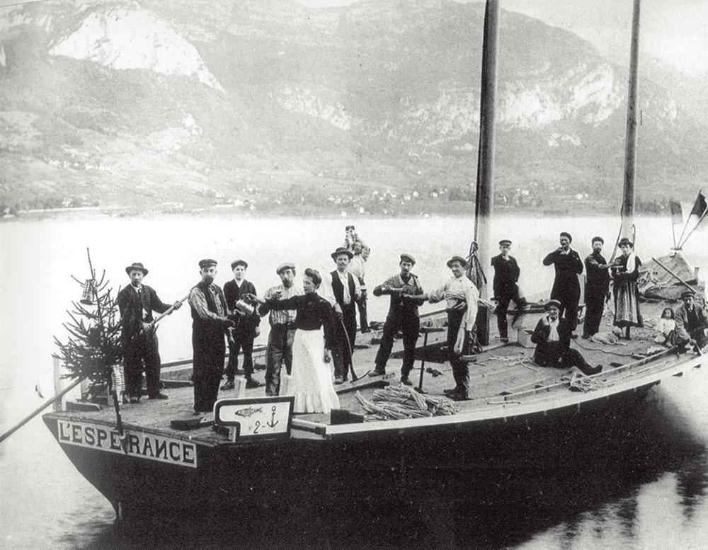 barque à voile, Lac d'Annecy