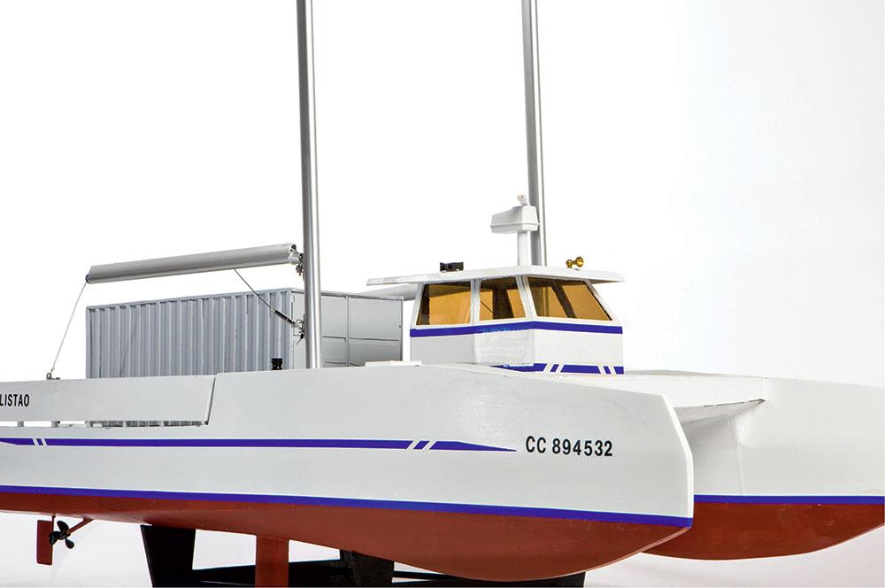 Voile au travail, prototype voilier pêche