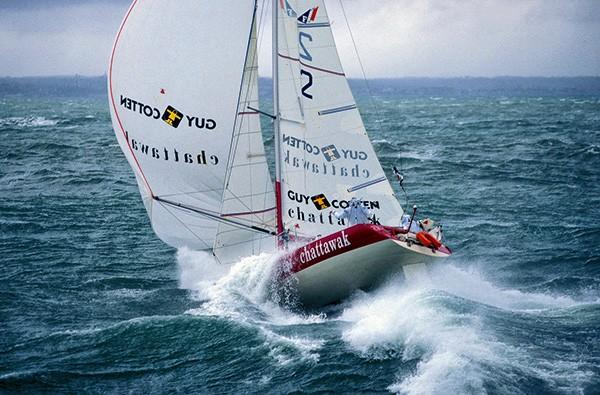 Prise de vue du Figaro pour la Transat AG2R, 1998