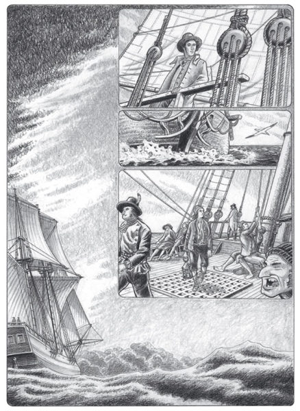 Extrait littéraire illustré, Lionel Duigou, François-René de Chateaubriand, Chasse-Marée