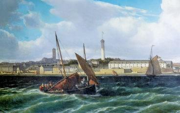 Chaloupe dans la rade de Lorient 1865