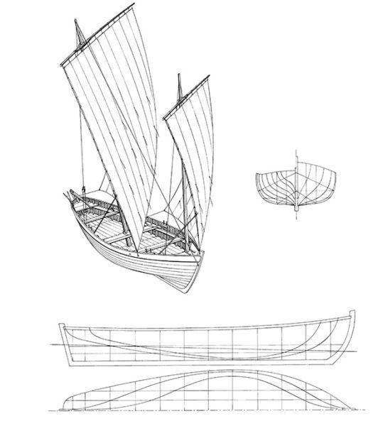 Plan Chaloupe de pêche vers 1840