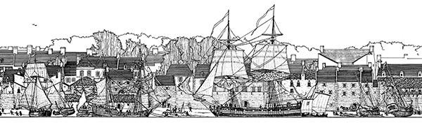 Dessin de Port-Louis 1765
