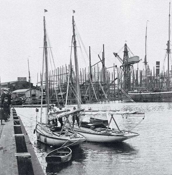 Cotres conçus par Gerhard Rønne et Knud Degn et construits en 1910 au chantier N.H. Nielsen.