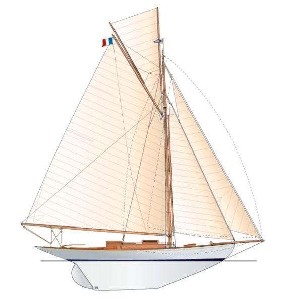 Runa VI, Cotre conçu par Gerhard Rønne et construit en 1927 au chantier N.H. Nielsen.