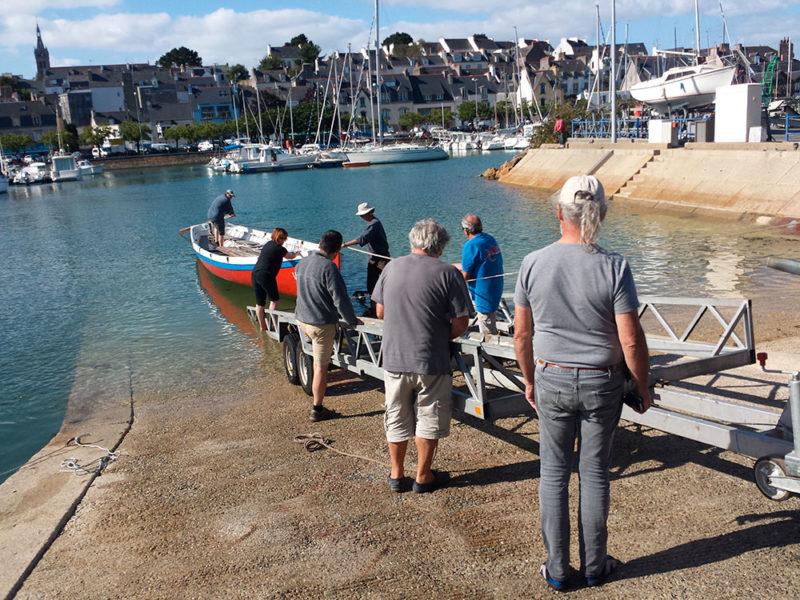 cale de mise à l'eau, voile-aviron, Chasse-Marée