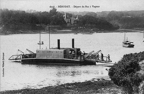 Bac Concarneau, histoire des bacs, bac Quimper, bac Plougastel, bac Bénodet, bac sur le Loire