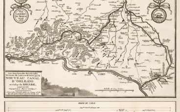 Plan du canal de Briare
